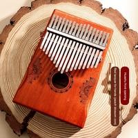 Kalimba-Piano de pulgar de madera de caoba para principiantes, instrumento de 17 teclas ligero y portátil de alta calidad, elementos de música