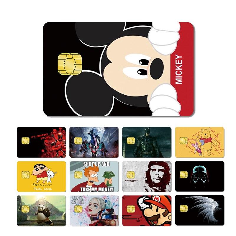 Magic Shark Mario Kitty Star War Deadpool Batman Bear  Crayon Shinchan Skin Sticker Film Case For Credit Debt Card