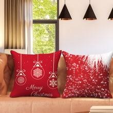 Nanacoba красный Рождественский Наволочка на подушку Рождество