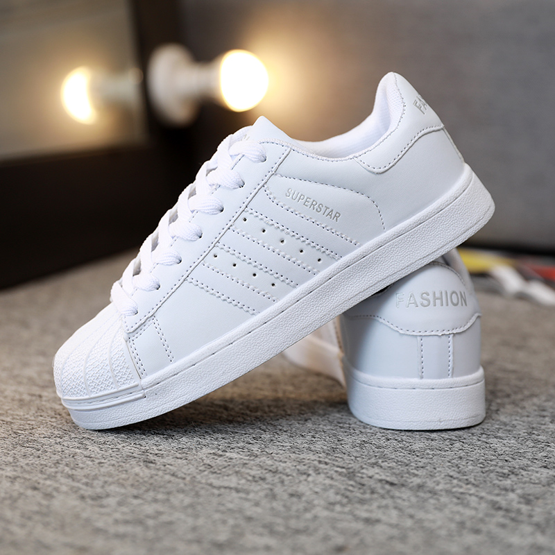 Men Leather Shoes Lovers Unisex Flat Walking Shoes Men Basket Trainers Superstar Sneakers Men Zapatillas Mujer Chaussures Femme