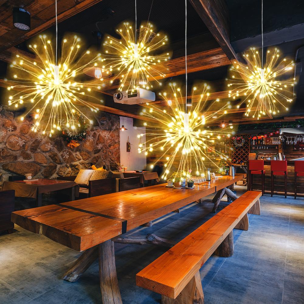 LED String Christmas  Fairy Lights 120 Leds DIY Firework Lights Outdoor Twinkle Light