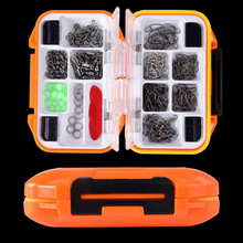 12 Grid 191 Pieces Waterproof Fishing Swivel Tackle Box Include Snap Bean Lure Tail Ring Tools Set  Accessories