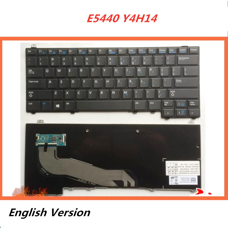 Laptop-English-Keyboard Replacement Notebook E5440 Latitude Dell for Layout Y4H14