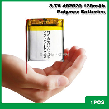 3.7V Lipo cells 402020 120mah Lithium Polymer Rechargeable Battery For MP3 MP4 MP5 Reading pen Smart bracelet Bluetooth headset image
