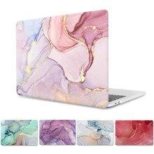 Capa dura de mármore para macbook pro 16 a2141 pro 13 a2289 a2251 retina 15 barra toque id para macbook ar 13 a2179 capa