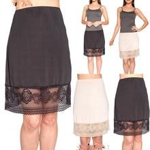 Новая модная женская нижняя юбка со шнуровкой и сеткой, однотонная, с высокой талией, интимная полупрозрачная Нижняя юбка, Нижняя юбка, слипы