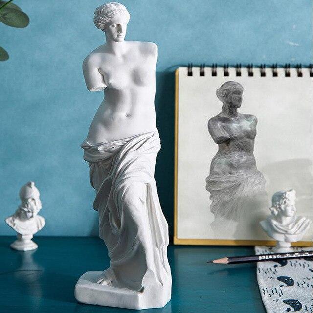 European Home Decoration Resin Statue Modern Abstract Art Mini Goddess Broken Arm Sculpture Art Sketch Model Creativity 5