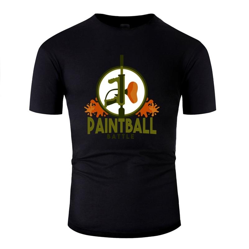 Printed Paintball Rifle Splash Colour Balls Airsoft Gotcha Men Tshirt O Neck Male Famous Adult T Shirts Top Tee