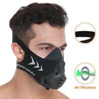 Fdbro 스포츠 마스크 프로 훈련 실행 수 방진 공기 여과 마스크 무술 높은 고도 보호 호흡 트레이너 마스크