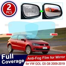 Para volkswagen vw gol g5 g6 2009 ~ 2019 viagem saveiro anti nevoeiro filme espelho retrovisor à prova de chuva anti-nevoeiro filmes limpos acessórios