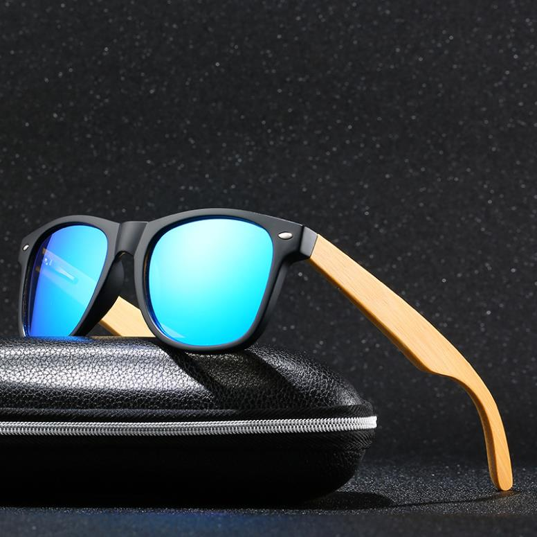 Bruno Dunn 2020 Mens Sunglasses Polarized bamboo Wood Mirror Lens Sun Glasses Women Brand Design Colorful Shades Handmade ray(China)