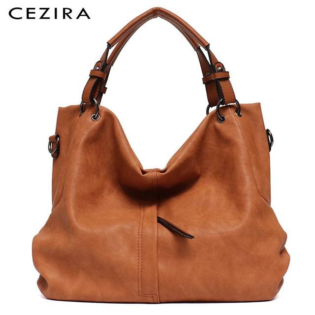 CEZIRA sacs à main en cuir Pu Hobos pour femmes, grands sacs de bonne qualité, sacs à épaule solide de poche, fourre tout pour dames