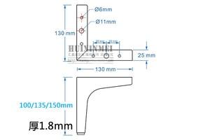 Image 5 - 4個調節可能な高さの金属家具脚三角テーブルヘアピン脚squarキャビネットソファ足ハードウェア家具アクセサリー