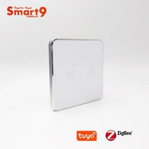 Image 2 - Interruptor de batería Smart9 ZigBee, que funciona con el concentrador TuYa ZigBee, Interruptor táctil Sticker Smart Life App Control, alimentado por TuYa