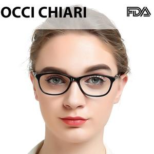 Image 2 - OCCI CHIARI נשים של מסגרות משקפיים מחשב משקפיים כחול אור נשי מסגרת אופטית מחזה מרשם קטן גודל OC7061