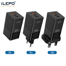 Gan Charger Ilepo Xiaomi Laptop iPhone Samsung S10 Fast 65w Pd USB for 12-pro/Max/Qc-4.0/3.0