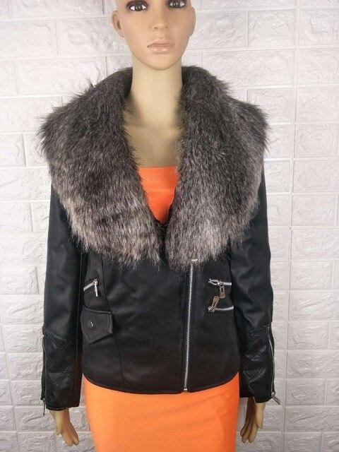 женская мотоциклетная куртка из искусственной кожи черная толстовка фотография