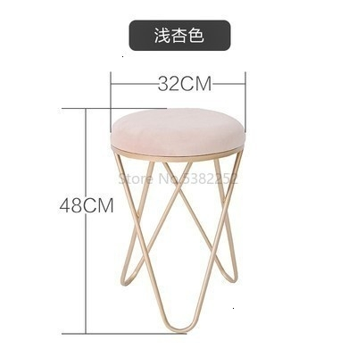 Iron Stool Dressing Chair Northern Europe Restaurant Stool Bedroom Modern Stool Ins Originality Small Round Stool Shoes Stool 5
