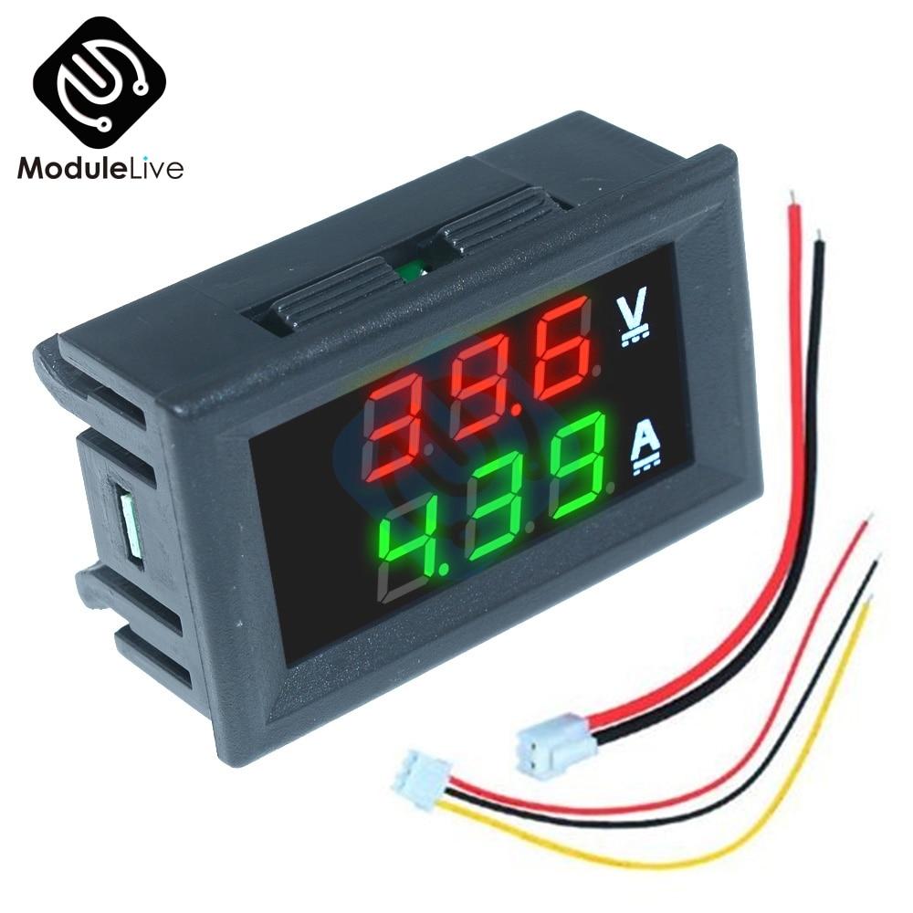 0,56 дюймовый Мини цифровой вольтметр Амперметр постоянного тока 100 в 10 А панель Измеритель Напряжения тока тестер 0,56