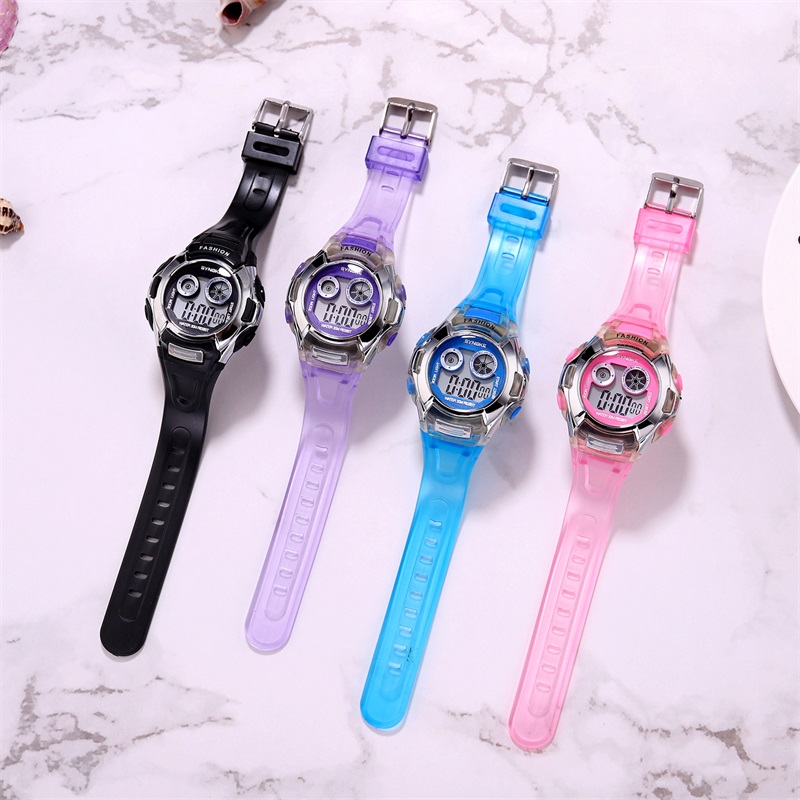 Factory Sales Student Kids Girls Watch Child Clock Led Digital Wrist Watch Electronic Waterproof Watch For Girl Boy Gift