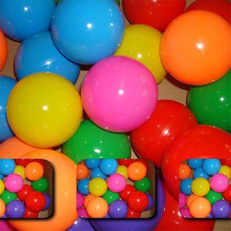 50 pçs/saco divertido colorido macio nadar piscina oceano bola tenda bola de plástico brinquedos bolas bebê crianças venda quente férias jogos