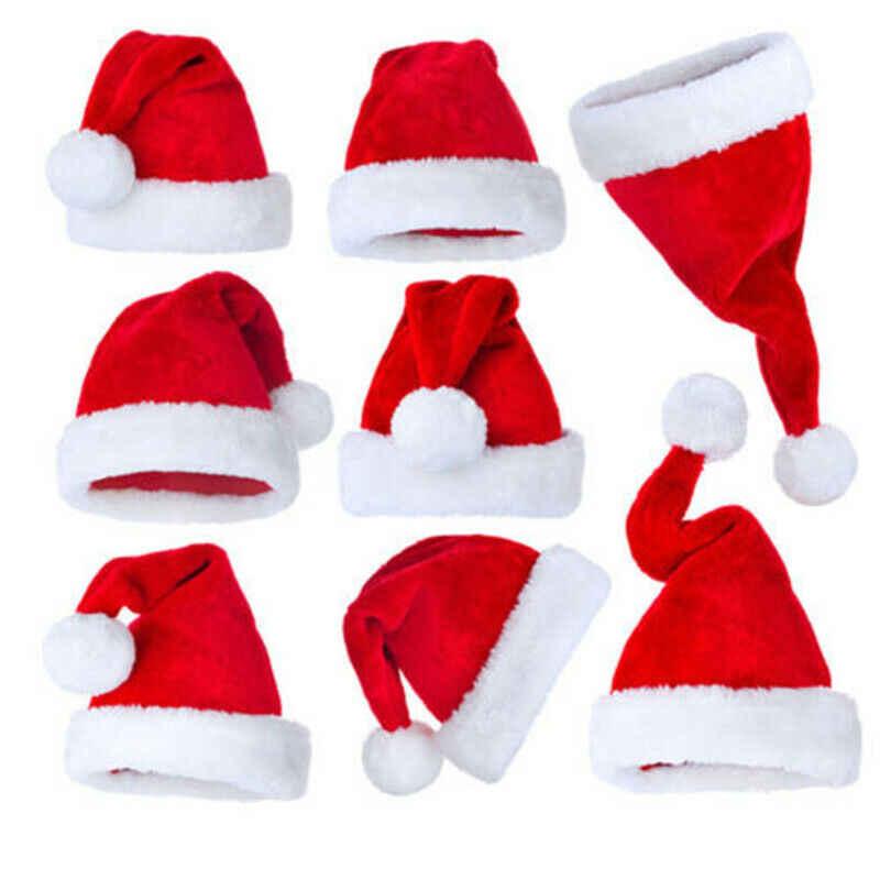 Unisex sombrero de Navidad 2020 fiesta de Navidad Santa Claus sombrero familia a juego Cosplay traje de Navidad regalos para adultos niños bebé