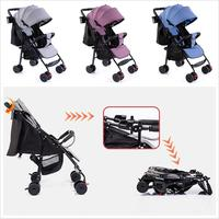 None Baby Folding Stroller Full Canopy Sunshade Linen Laid Down Portable Baby Umbrella Cart|Strollers Accessories|Mother & Kids -