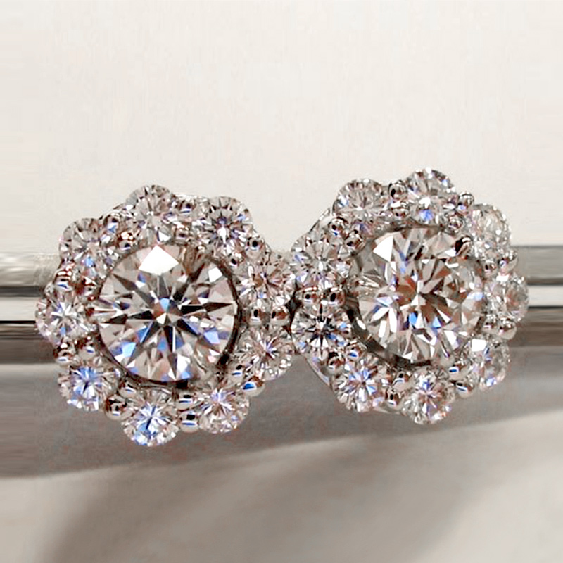 Huitan Luxury AAA Cubic Zirconia Stud Earrings For Women Elegant Accessories Daily Wearable Party Jewelry Anniversary Love Gifts