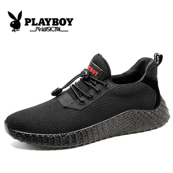 PLAYBOY New Spring/Autumn Breathable Men Shoes Sneakers Breathable Light Men Casual Shoes Comfortable Soft Male Shoes CX9563Q