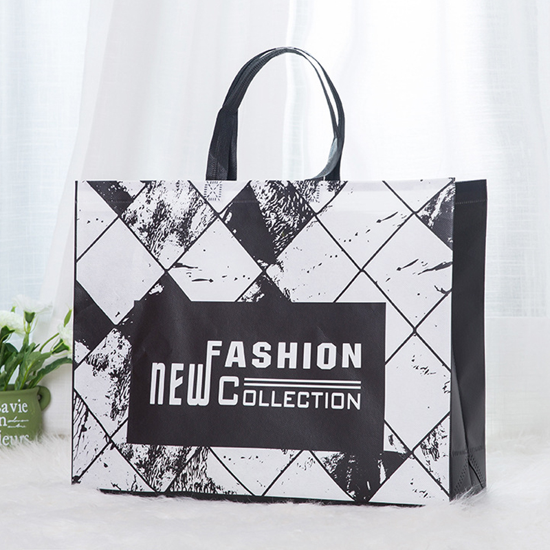 New Fashion Foldable Non-woven Fabric Shopping Bag Reusable Tote Pouch Women Travel Storage Handbag Fashion Shoulder Bag