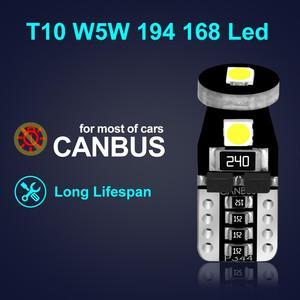 Image 2 - 10 Chiếc T10 W5W Bóng Đèn Led 194 168 3030 Chip Xi Nhan Canbus Lỗi Giá Rẻ Led Đậu Xe Bóng Đèn Tự Động Nêm Thông Đèn 6000K Siêu Sáng Hơn Đèn Led