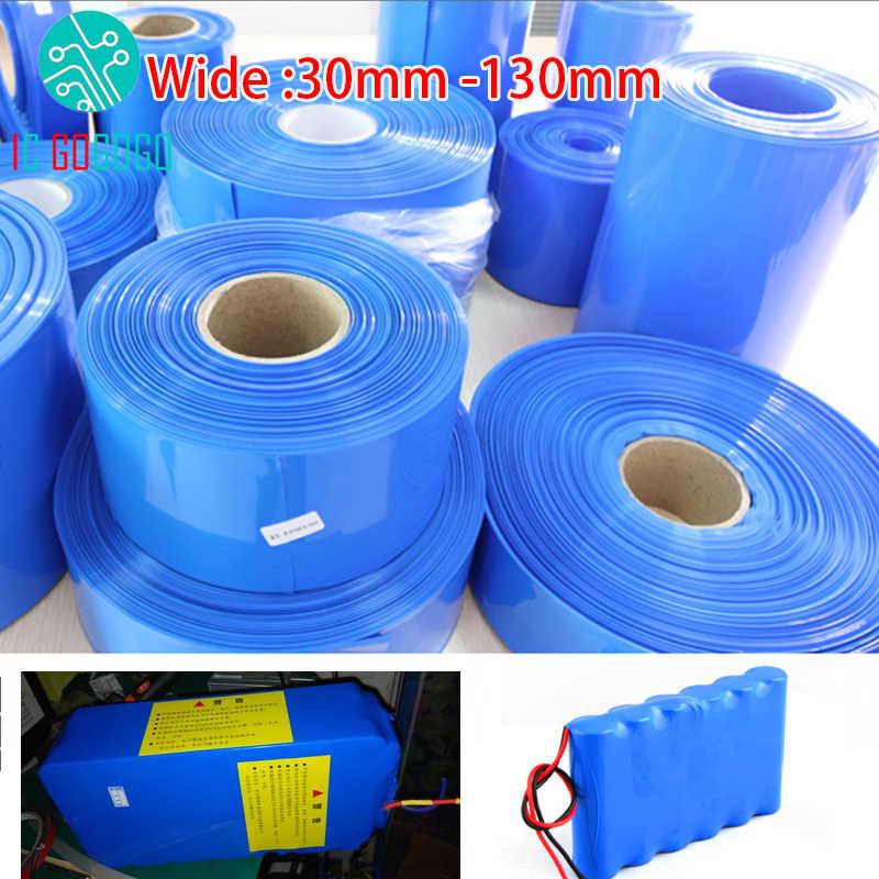 30 ミリメートル-130 ミリメートル 18650 リチウムバッテリー熱収縮チューブチューブリチウムイオンラップカバースキン PVC 収縮フィルムパイプスリーブアクセサリー