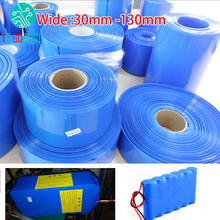 30mm   130mm 18650 Lithium Battery Heat Shrink Tube Tubing Li ion Wrap Cover Skin PVC Shrinkable Film Pipe Sleeves Accessories