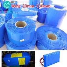 30mm-130mm 18650 bateria litowa rurka termokurczliwa Li-ion pokrowiec owijający skóra PVC termokurczliwe rękawy rurowe akcesoria tanie tanio Olive Leaf Bateria Akcesoria Heat Shrink Tube
