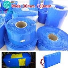 30mm 130mm 18650 lityum pil isı Shrink tüp boru Li ion Wrap kapak cilt PVC daralan Film boru kollu aksesuarları