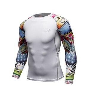 Image 1 - Mans spor eğitimi egzersiz T shirt erkek moda spor koşu gömlek Casual erkek giyim T Shirt erkek T shirt hızlı kuru