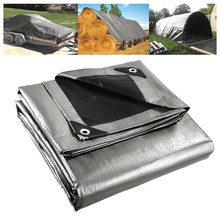 Heavy Duty Poly Tarp Canopy Tent Cover Sun Shelter Reinforced Tarpaulin UV Protection Waterproof Outdoor Roof Camping