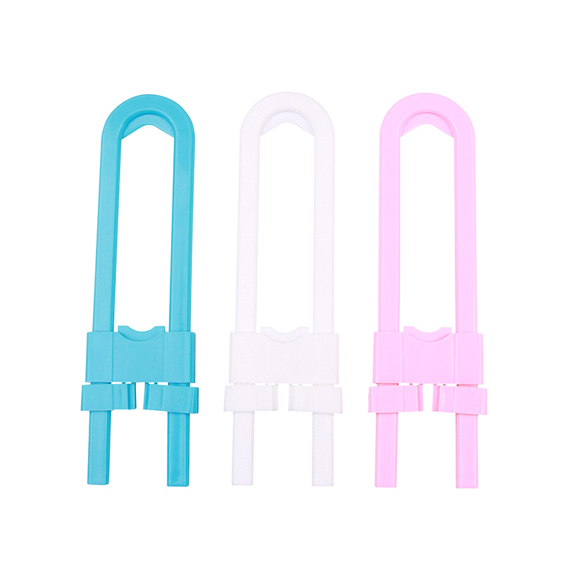 5pcs Baby Safety Lock U Shape Kids Baby Cabinet Locks Children Protection Cabinet Security Door Locking ABS Plastic Non-Toxic
