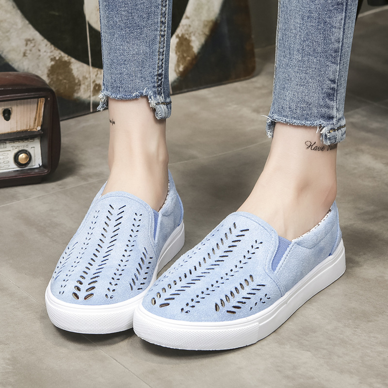Womens Casual Canvas Shoes Fashion Sneakers Vulcanize Shoes Slip on Loafers Woman Ladies Plus Size Low cut Flats Small Old Shoes in Women 39 s Vulcanize Shoes from Shoes