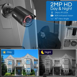 Image 5 - ZOSI 1080P HD TVI CCTV Security Camera ,3.6mm Lens 24 IR LEDs,65ft Night Vision ,Outdoor Whetherproof Surveillance Camera