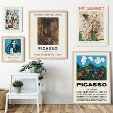 Pintura abstracta Vintage exposición lienzo Posters e impresiones pintor español Museo Galería moderna pared arte cuadro decoración del hogar