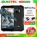OUKITEL WP12 Pro 4GB+64GB IP68 Waterproof Rugged Smartphone MT6762D Octa Core Android 11 5.5'' HD+ 4000mAh Mobile Phone NFC