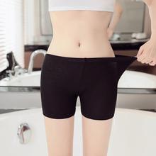 Women's boxer shorts  anti-glare solid color leggings shorts