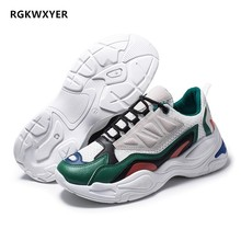 RGKWXYER Men Casual Shoes Mesh Breathable Sneakers High Quality New Trend Fashion Cheap Lace Up Color Matching Zapatilla 2019