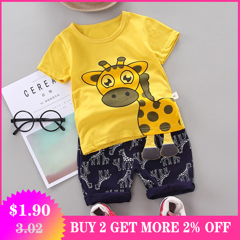 Baby Girl Clothes For Baby Clothing Newborn Baby Boy Clothes Set Infant Boys Sport Suit T-shirt+Pants 2Pcs Outfit Kids Clothes