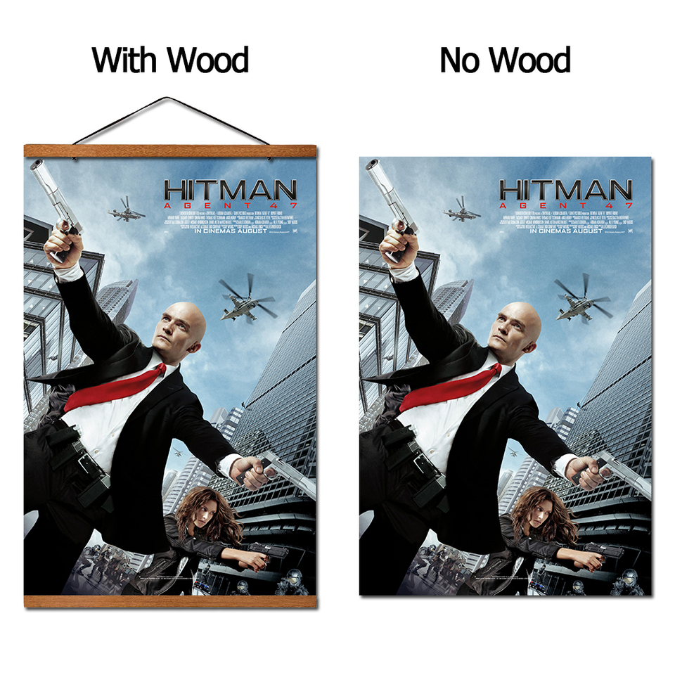 Hitman Agent 47 Movie Hanging Poster Scroll Canvas Painting With