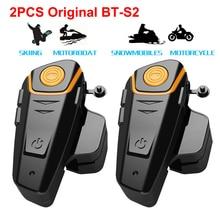 цены на 2pcs Original BT-S2 Motorcycle Wireless Bluetooth Helmet Moto Headset Intercom Type C Headphones Support GPS FM Radio в интернет-магазинах