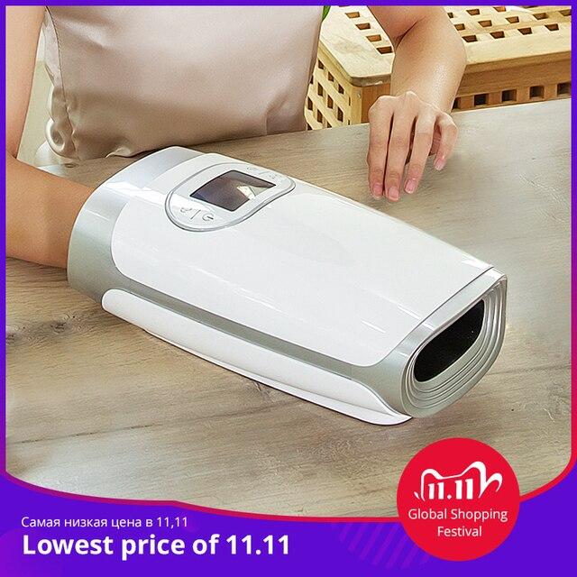 MARESE Dispositivo para masaje eléctrico manual, masajeador de calor de compresión de aire para palma de mano, belleza para dedo, muñeca, Spa, relajación alivio de dolor, regalo para novia