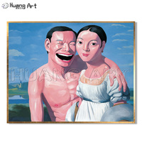 Pure Hand Painted High Quality Laugh Lovers Portrait Oil Painting for Home Decor Figure Imitation Painting
