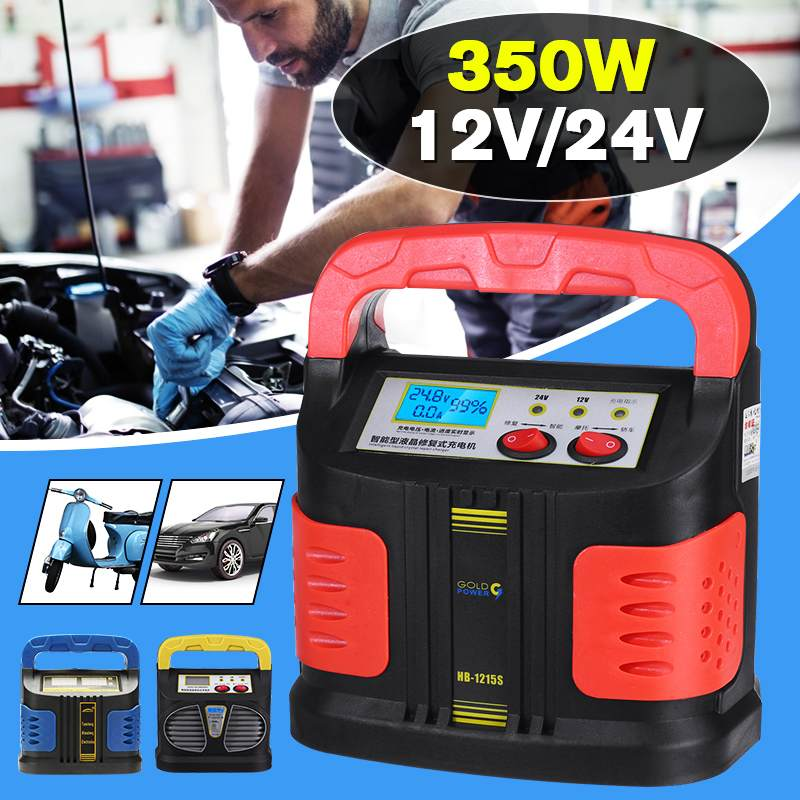Automatic Battery Charger 12/24V Jump Starter Emergency Charger Booster Power Bank Pulse Repair Device For Car Truck  Universal